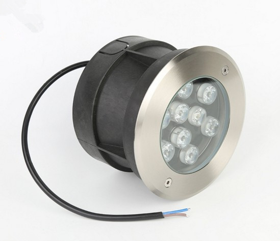 CE / ROHS Listed LED Underwater Lamp 9W Recessed With 3 Years Warranty
