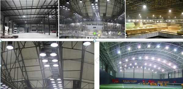 Small Size UFO LED High Bay Light 100W For Logistics Centers / Exhibition Halls