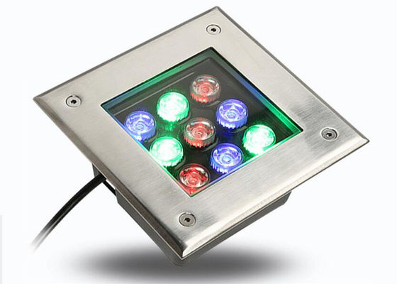 China IP66 Square LED Underground Lamp 9w Outdoor Decorative With Good Bearing Capacity distributor