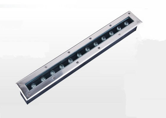 China Linear Recessed Floor Led Lights , 12w Led In Ground Well Lights For Gas Station factory